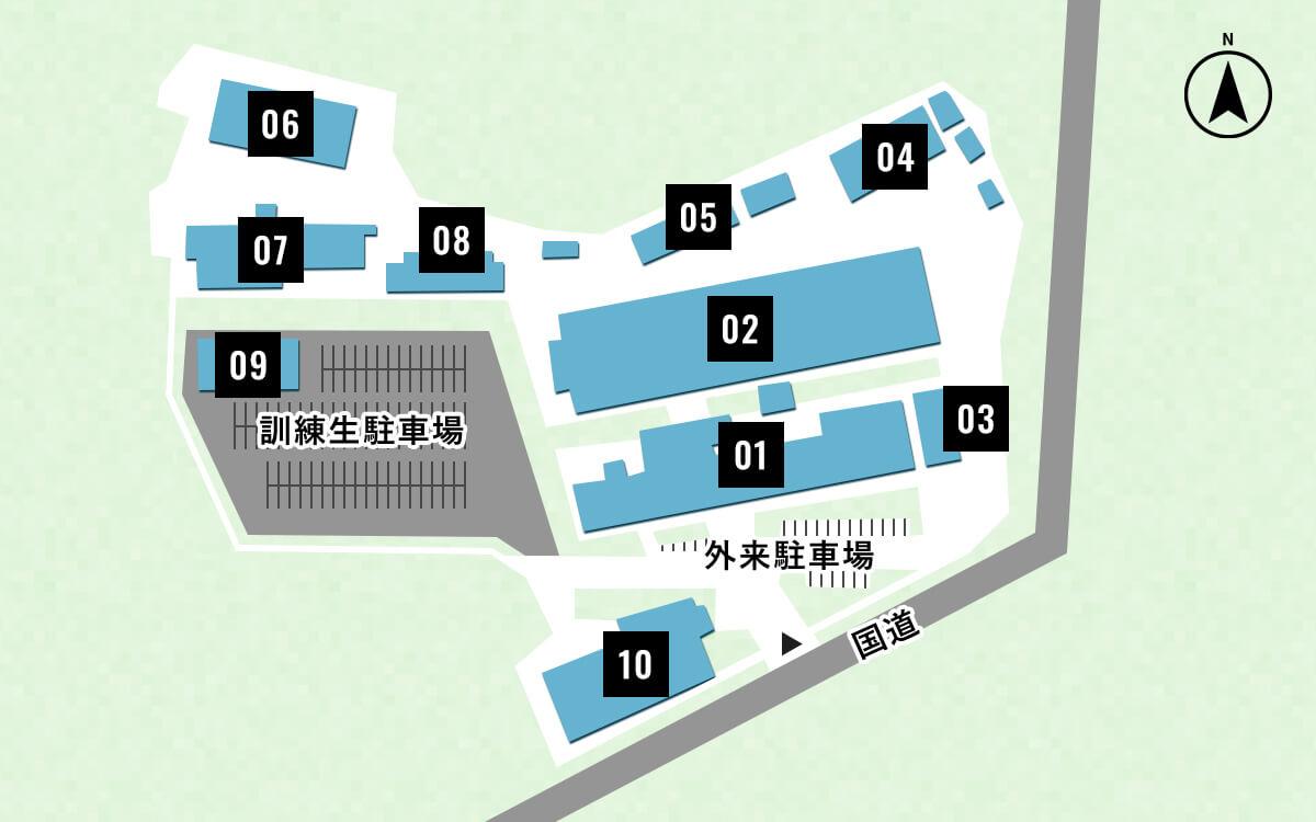 校内の地図